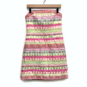 Lilly Pulitzer Pink & Green Striped Dress - Size 8